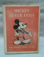 "1939 ""Mickey Never Fails"" First Edition by Walt Disney and Robin Palmer HC book"
