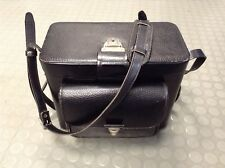 Vintage Tucky Rigid Leather Camera Bag 1960s Professional