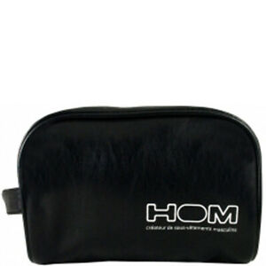 MENS HOM BLACK WASH BAG Toiletry Travel NEW