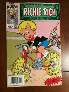 RICHIE RICH BIG BUCKS # 4 VF HARVEY COMICS 1991 NEWSSTAND EDITION