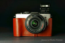 Handmade Genuine real Leather Half Camera Case Camera bag for Panasonic GX-1 GX1