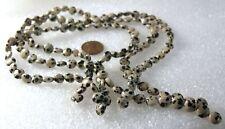 Natural Gemstone Dalmation Jasper Smooth Lentil Beads