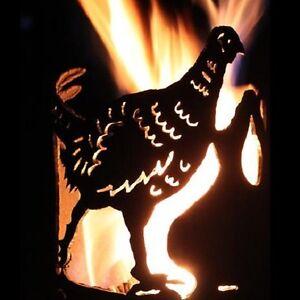 Fasan Fackel - Set mit Stiel und Brennmitteln Gartenfackel Feuerschale Eisen