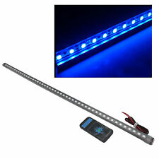 48 DEL 5050 Waterproof Flash voiture knight rider strip lights with Remote en Bleu 56 cm