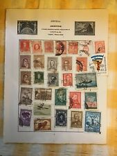 More details for page of 29 argentina antique stamps 1923+