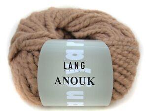 (5,89€/100g) Lang Yarns Anouk hellbraun 39 dicke Wolle Alpaka stricken