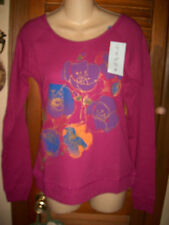 "Venus~NWT's sz L ""Iris Orchid"" Long  sleeve    printed floral  thermal shirt"
