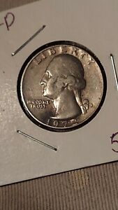 1972 Washington Quarter 25C, wrong planchet. Nickel planchet