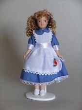 """1/12TH  DOLLS HOUSE  """" VICTORIAN""""  GIRL  IN  BLUE """"ALICE"""" DRESS"""
