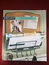 NEW OTHER Wayland Square Cork Board Mail Center With 5 Hook Key Organizer
