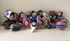 Lot of 17 Sports Ny Teams Plush Toys Mixed Nwt