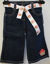 CRAZY 8 BY GYMBOREE Girls Blue Denim Cupcake Wide Leg Jeans Pants 12 18 Months
