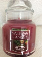 Yankee Candle One (1) Red Apple Wreath Small Jar NEW  3.7 oz
