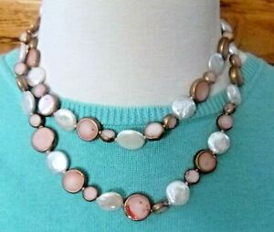 Dallas Prince  Necklace Pink Opals and Coin Pearls
