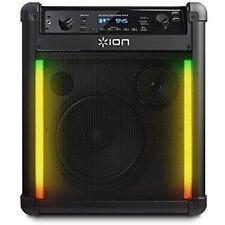 [Black] ION Block Rocker Max Bluetooth Speaker AM/FM 100 Watts 2 USB Port [CR]