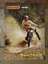 Bultaco Frontera 250 /360 Sales Brochure, Original NOS