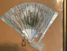 Antique Mother-Of-Pearl And Lace Wedding Hand Fan