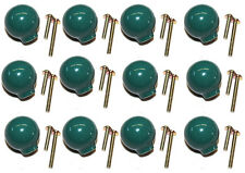 (12-Pack) Liberty Hardware Drawer Knob Ball Green Ceramic Cabinet Pull 1.25""