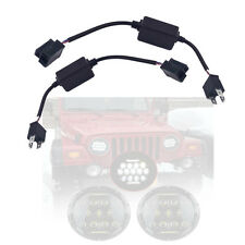 LED Fog Light Adapter Canbus Wires Anti-Flicker for Jeep Wrangler JK LJ TJ CJ-8