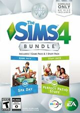 Brand New Sealed The Sims 4: Spa Day & Perfect Patio Stuff Bundle PC game