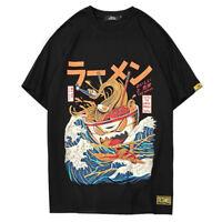 Kawaii Clothing Ropa Harajuku Japanese Ramen T-shirt Noodles Kanagawa Wave Bowl