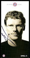 Michael henke autografiada mapa bayern munich 2001-02 original firmado + C 585