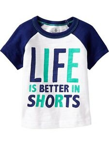54% OFF!AUTH OLD NAVY BABY BOY'S GRAPHIC RAGLAN TEE 6-12 mos BNEW SRP US$10.94+