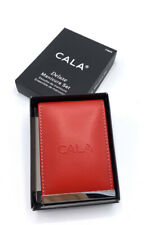 Cala Pro 9 Piece Chrome Deluxe Manicure Set - Red Zippered Case Model No. 5060