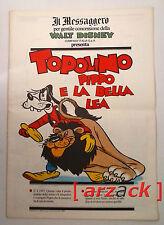 TOPOLINO supplemento IL MESSAGGERO Topolino Pippo e la bella Lea 13/1/90
