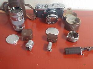 Vintage Canon Model VT Rangefinder Camera With Lenses & Extras Estate Find!
