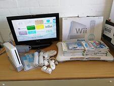 Coffret Nintendo Wii joblots Avec Wii Fit 12 jeux 2 manettes avec Nunchucks