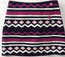 Gymboree Girls Sz 6 Tweed Fall Winter Skirt Pink Blue Purple White Geometric Vtg