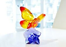 Swarovski Butterfly on Flower Orange Purple Tropical 5374943 Brand New In Box