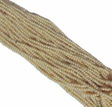 Eggshell Luster Czech 6/0 Seed Bead on Loose Strung 6 String Hank
