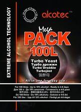 Alcotec Mega Pack 100l turbo pure super yeast alcohol spirit free P&P UK