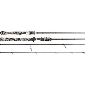 Samaki Zing Travel Spin Rod 7' SZG-703SL 3 Piece Graphite Rod 4-8 Lb + Hard Case
