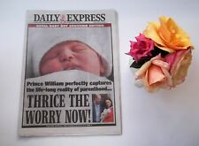 Prince William Kate Middleton Baby #3 Daily Express UK newspaper photos NEW
