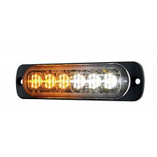 6 LED 18 watt ULTRA THIN Car Truck Emergency Hazard Strobe Warning White Amber