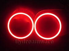 NEW One pair Red 60mm Angel Eyes 66led COB  SMD LED Bright Halo Ring Light G047