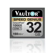 NUOVO vaultor 32gb 1066x Professional Compact Flash CF Memory Card - 160mb/s lettura