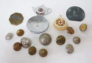 Vintage Railway Metal Buttons, Pin Badge & Coins   Train Memorabilia Collectors