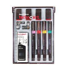 Isomars Technical Drawing Pen Set of 4 (Sizes 0.1,0.2,0.3,0.5).Product Australia