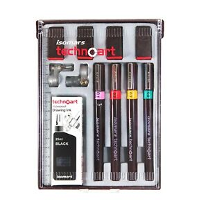 Isomars Technical Drawing Pen Set of 4(Sizes0.1,0.2,0.3,0.5)Product in Australia