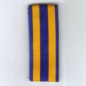 UNCERTAIN RIBBON. Yellow with blue centre and edge stripes