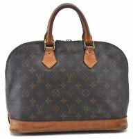 Authentic Louis Vuitton Monogram Alma Hand Bag M51130 LV B6381
