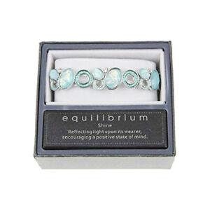 Equilibrium Shine Moonstone Set Bracelet Turquoise & Silver Tone Upto 21cm Wrist