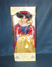 """Porcelain """"Victorian Beauty Fairy Tale"""" Snow White Doll w/ Box & Stand 13 Inches"""