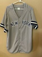 MICKEY MANTLE #7 NEW YORK YANKEES Vintage MLB Pro Knit Jersey Size L Large