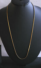 22k gold plated chain NECKLACE  ladies/men 22 inch bollywood real looking h63