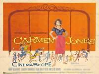 ADVERT MOVIE FILM MUSICAL CARMEN JONES HAMMERSTEIN BELAFONTE ART PRINT BB7543